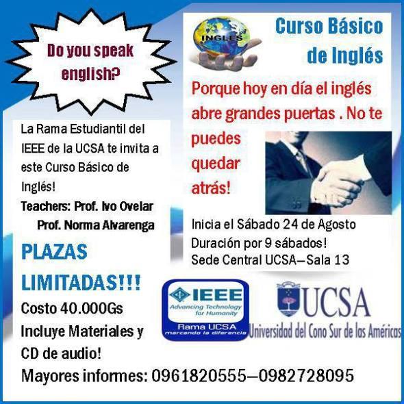 CURSO DE INGLES RAMA UCSA IEEE