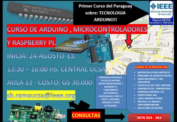 CURSO ARDUINO RASPBERRY PI Y MICROCONTROLADORES